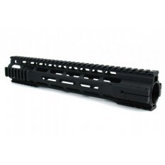 "AR15 Ultra-Slim Free-Float 1-Piece Clamp-On Quad Rail 15""- Aluminum Black- HG07-15"