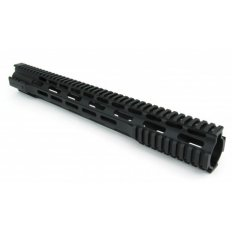 "AR15 Ultra-Slim Free-Float 1-Piece Clamp-On Quad Rail 16.5""- Aluminum Black- HG07-16.5"