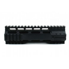 "AR15 Ultra-Slim Free-Float 1-Piece Clamp-On Quad Rail 7""- Aluminum Black- HG07-7"