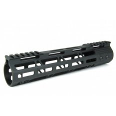 "AR15 Ultra Slim M-LOK Free Floating Modular Handguard- 10"" Carbine Length- Aluminum Black- HG08-10"