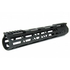 "AR15 Ultra Slim M-LOK Free Floating Modular Handguard- 12"" Rifle Length- Aluminum Black"