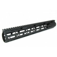 "AR15 Ultra Slim M-LOK Free Floating Modular Handguard- 15"" Rifle Length- Aluminum Black- HG08-12"