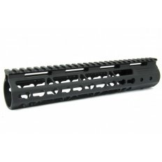 "AR15 Slim KeyMod Free Floating Modular Handguard with Rails- 10"" Carbine Length- Aluminum Black - HG09-10"
