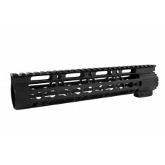 "AR15 Ultra Slim (Gen2) KeyMod Free-Float Clamp-On Handguard with Detachable Rails 10""- Aluminum Black- HG10-10"