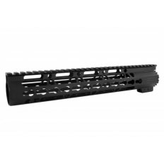 "AR15 Ultra Slim (Gen2) KeyMod Free-Float Clamp-On Handguard with Detachable Rails 12""- HG10-12"