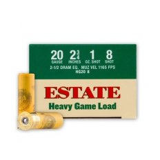 "Estate Heavy Game Load 12 Ga 2-3/4"" 1-1/8 oz #6 Shot-hg208"
