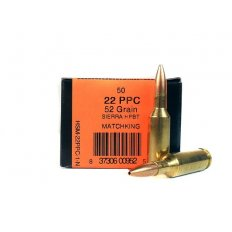 HSM .22 PPC 52 Gr. Sierra MatchKing Hollow Point Boat Tail- HSM-22PPC-1-N