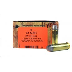 "HSM .41 Remington Magnum 210 Gr. Semi-Wadcutter ""Cowboy Action"" Lead- HSM-41-1-N"