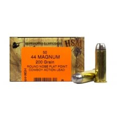 HSM .44 Magnum 200 Gr. Round Nose Flat Point Cowboy Action Lead-44M-11-N
