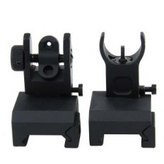 AR15 Same Plane Flip-Up Back-Up Iron Sight Set with H&K Style Front Sight- IS001