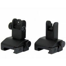 AR15 Same Plane Flip-Up Back-Up Iron Sight Set with A2 Style Front Sight- IS002