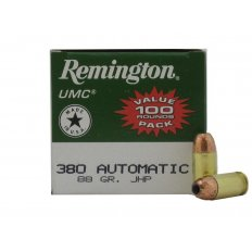 Remington UMC .380 ACP 88 Gr. Jacketed Hollow Point-L380A1B