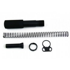 AR15 Pistol Buffer Tube Kit with Dual Loop Sling Adapter End Plate- Aluminum Black- MAR049-B