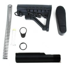 AR15 6-Position Mil-Spec Stock Kit- Black- MAR050