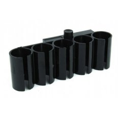 Universal 5-Round Picatinny Shotgun Side Shell Carrier- Black Polymer