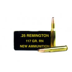 PCI .25 Remington 117 Gr. Hornady Jacketed Round Nose Soft Point-PC25REM