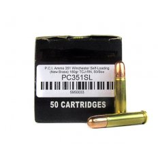 PCI .351 Winchester Self-Loading 180 Gr. Total Copper Jacket Round Nose- PC351SL-50