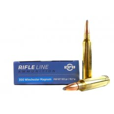 Prvi Partizan .300 Winchester Magnum 165 Gr. Pointed Soft Point Boat Tail- PP3002