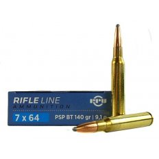 Prvi Partizan 7x64mm Brenneke 140 Gr. Pointed Soft Point Boat Tail PP764