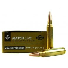 Prvi Partizan Match .223 Remington 75 Gr. Hollow Point Boat Tail PPM2232