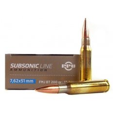 Prvi Partizan Subsonic 7.62x51mm 200 Gr. Full Metal Jacket Boat Tail- PPS762