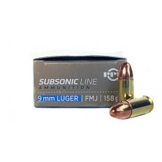 Prvi Partizan 9mm Luger 158 Gr. Full Metal Jacket Subsonic- PPS9MM