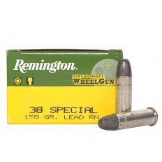 Remington Performance WheelGun .38 Special 158 Gr. Lead Round Nose- Box of 50 RPW38S5