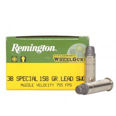 Remington Performance WheelGun .38 Special 158 Gr. Lead Semi-Wadcutter- Box of 50 RPW38S6