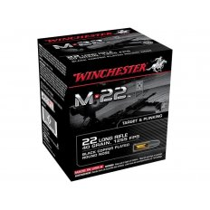 Winchester M-22 .22 Long Rifle 40 Gr. Black Plated Lead Round Nose-S22LRT