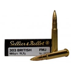 Sellier & Bellot .303 British 180 Gr. Full Metal Jacket- Box of 20 SB303A