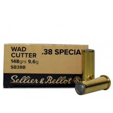 Sellier & Bellot .38 Special 148 Gr. Lead Hollow Base Wadcutter- Box of 50 SB38B