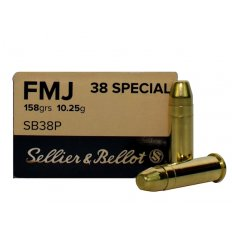 Sellier & Bellot .38 Special 158 Gr. Full Metal Jacket- Box of 50 SB38P