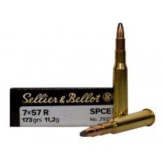Sellier & Bellot 7x57mm Rimmed Mauser 173 Gr. Soft Point Cutted Edge- SB757RA