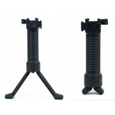 TacFire Grip Pod Style Vertical Grip Bipod with Rail- Black- SPAR008