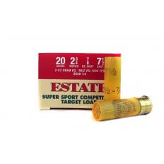 "Estate Super Sport Competition Target Load 20 Gauge 2-3/4"" 7/8 oz #7-1/2 Shot- SS20-7.5"
