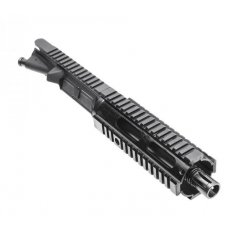 "AR15 9mm Luger Upper Receiver Assembly 7.5"" 1:10 Twist Barrel with Free Float Quad Rail Handguard- UB-9MM-FAR07-7.5"