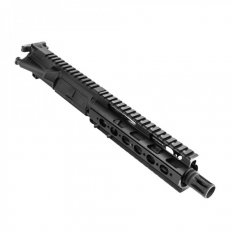 "AR15 .300 AAC Blackout Complete Upper Receiver Assembly 7.5"" 1:7 Twist Barrel with Super Slim Quad Rail Handguard- Black- Upper-Build-300"