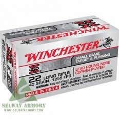 Winchester Super-X .22 Long Rifle 40 Gr. Plated Lead Round Nose-X22LR