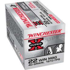 Winchester Super-X .22 Winchester Magnum Rimfire (WMR) 40 Gr. Jacketed Hollow Point- X22MH