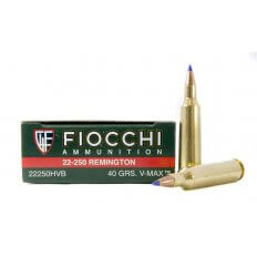 Fiocchi Extrema .22-250 Remington 40 Gr. Hornady V-Max- Box of 20