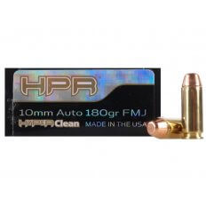 HPR HyperClean 10mm Auto 180 Gr. Full Metal Jacket- Box of 50