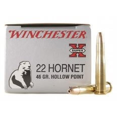 Winchester Super-X .22 Hornet 46 Gr. HP- Box of  50