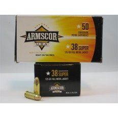 Armscor .38 Super 125 Gr. Full Metal Jacket- Box of 50