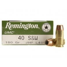 Remington UMC .40 S&W 180 Gr. Jacketed Hollow Point- Box of 50