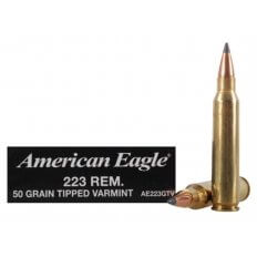 Federal American Eagle .223 Remington 50 Gr. Tipped Varmint- Box of 20