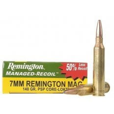 Remington Managed-Recoil 7mm Remington Magnum 140 Gr. Core-Lokt Pointed Soft Point- Box of 20