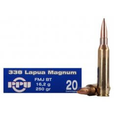 Prvi Partizan .338 Lapua Magnum 250 Gr. Full Metal Jacket Boat Tail- Box of 20