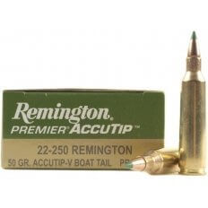Remington .22-250 Remington 50 Gr. AccuTip Boat Tail- Box of 20