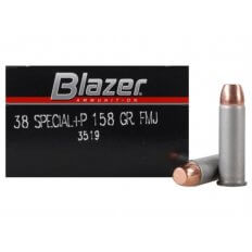 CCI Blazer .38 Special +P 158 Gr. Full Metal Jacket- Box of 50