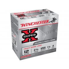 "Winchester Super-X Heavy Game Load 12 Gauge 2-3/4"" 1-1/8 oz #4 Shot- Box of 25"